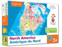 Nord America Map by North America Map Puzzle Smart Play Educational Toys