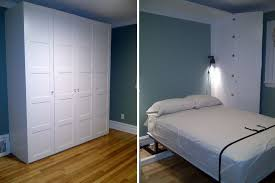 Wall Mounted Folding Bed 12 Diy Murphy Bed Projects For Every Budget Inside Diy Wall