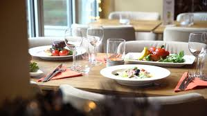 Dining Table With Food Dinner Table In Restaurant Stock Footage 23881708