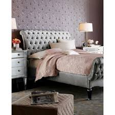 Tufted King Bed Frame Haute House Silver Tufted King Bed Polyvore