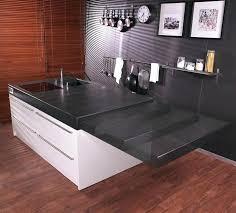 ilot de cuisine avec table ilot central table escamotable meuble de cuisine avec tablette