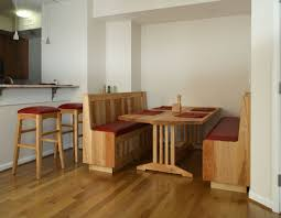 banquette dining table with bench dining table design ideas
