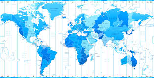 Pacific Time Zone Map World Cities Time Zone Map