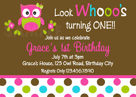 Baby 1st Birthday Invitation Card Owl Birthday Invitations U2013 Gangcraft Net