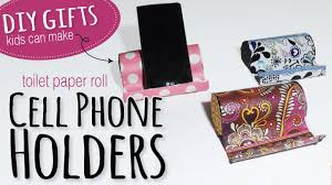 how to make a diy phone holder toilet paper roll kids craft