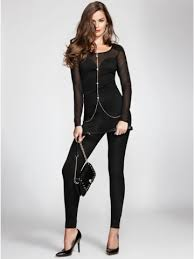 guess jumpsuit guess s sleeve ponte mesh jumpsuit price 118