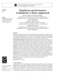 employee performance evaluation a fuzzy approach pdf download