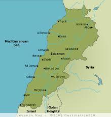 lebanon on the map lebanon map