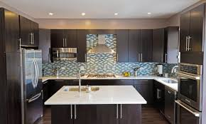 Kitchen Ideas With Black Cabinets by Backsplash With Black Cabinets Double Black Polymer Waste