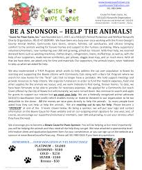 bowie paws become a sponsor