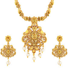 stone necklace set designs images As designer peacock with kuiri shape gold plated lct stone jpg