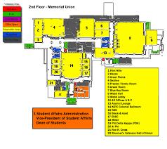 memorial union map campus map emporia state university