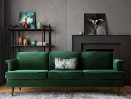 Green Sofa Living Room Porter Forest Green Sofa From Tov Coleman Furniture