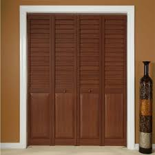 Vented Bifold Closet Doors Captivating Cherry And Louvered Bifold Closet Doors Ideas In