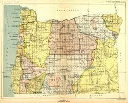 Northern Oregon Coast Map by Tillamook County Oregon Genweb Project Maps