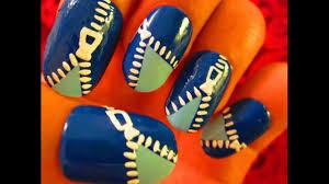 nail art tutorial funky blue zipper youtube