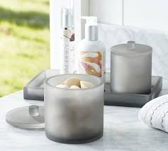 Bathroom Countertop Accessories by Serra Mix And Match Bath Accessories Gray Pottery Barn