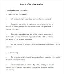 pirvacy policy 8 privacy policy templates free sles exles formats