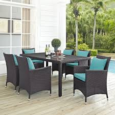 Rattan Patio Dining Set Gather Rattan Outdoor Dining Set 7 Free Shipping Today