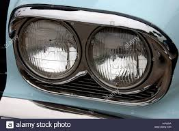 lights of an american made car stock photo royalty