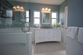 Black And White Bathroom Design Ideas Colors Traditional Black And White Tile Bathroom Remodel Traditional