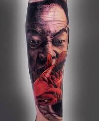 sad japanese awesome design on leg tattooshunter com