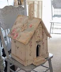 Buy Shabby Chic Decor by Shabby Cottage Cute Birdhouse With Shabby Roses So Going To Buy
