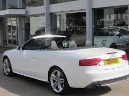 audi s5 convertible white used audi s5 2011 petrol quattro 2dr s tronic convertible white
