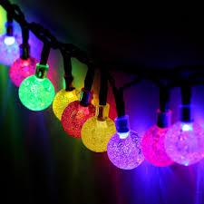 solar powered string lights t outdoor solar powered string lights multi color waterproof