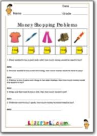 money shopping problems worksheets printable money worksheets for kids