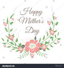 happy mothers day card design vector stock vector 155764463