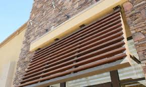 Wooden Window Awnings Wood Grain Decorative Awnings Decoral System