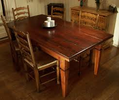 Cottage Dining Room Furniture Furniture Inspiring Reclaimed Old Wood Dining Table With Fabric