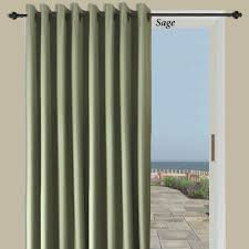 patio doors thermal elegance grommetio panel door curtains green
