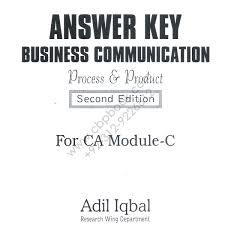 answer key business communication for ca module c by adil iqbal