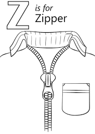 letter z is for zipper coloring page free printable coloring pages