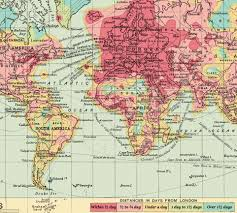 maps reveal how it takes to travel in 1914 and 2016 daily