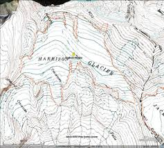 Map Of Glacier National Park Harrison Glacier Glacier National Park Slow Recession From A
