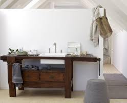 old carpenter table made into bathroom vanity by rexa design dot