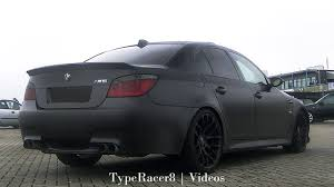 custom black bmw bmw m5 e60 w custom exhaust revving loud 1080p hd youtube