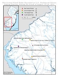 Map Of Newark Nj Usgs New Jersey Summary Of August 27 30 2011 Flooding In New Jersey