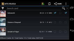 mtg wishlist pro android apps on google play