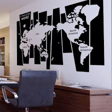 World Map Wall Decal Wall Sticker World Map Small Promotion Shop For Promotional Wall
