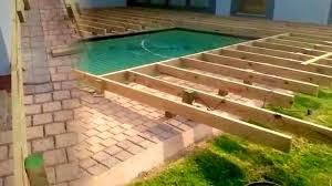 bedroom handsome wood pool deck decks for inground pools plans