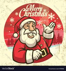 vintage style of santa claus royalty free vector image