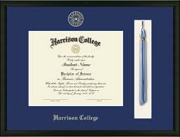 diploma frames with tassel holder harrison college tassel edition diploma frame in omega item