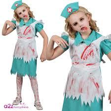 zombie nurse kids fancy dress costume