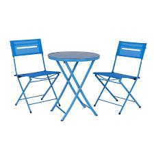 Blue Mosaic Bistro Table by Wilko Garden Furniture Balcony Bistro Set Textilene Blue At Wilko