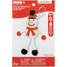 find the snowman pom pom ornament kit by creatology at michaels