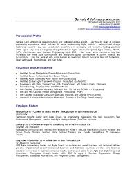 Life Coach Resume Sample by Gervais Johnson Agile Coach Details Resume